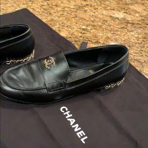 Chanel Women's Loafers Black 38.5